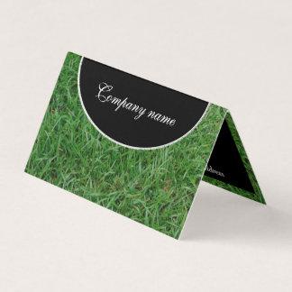 Grönt sommargräs, gård, foto för gräsmatta 099 visitkort