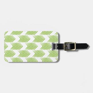 Grönt stam- pilmönster bagagebricka