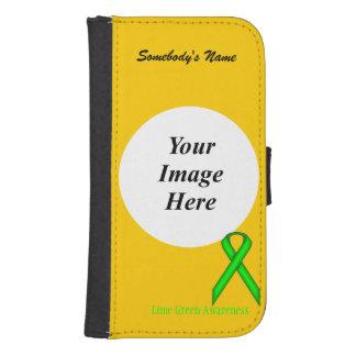 Grönt standart band för limefrukt av Kenneth Galaxy S4 Plånbok