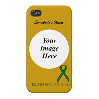 Grönt standart band för smaragd av Kenneth Yoncich iPhone 4 Hud