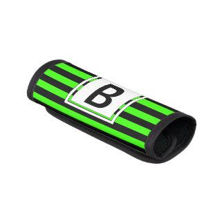 Grönt & svart Monogrambagagehandtag för ljust neon Handtagsskydd