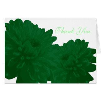 Grönt) tackkort för blomma ( OBS kort