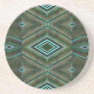 grönt texturerat mönster underlägg