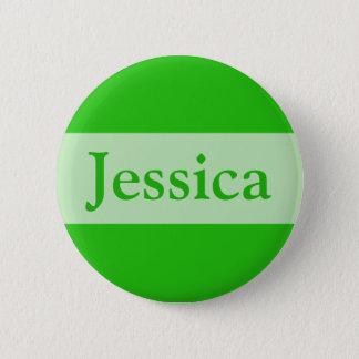grönt tillfogar ditt namn standard knapp rund 5.7 cm