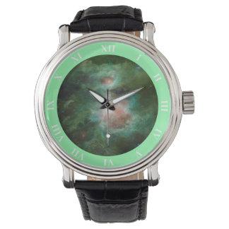 Grönt utrymmearmbandsur armbandsur