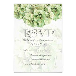 Grönt vanlig hortensiabröllop OSAkort 8,9 X 12,7 Cm Inbjudningskort