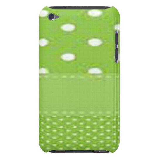 Grönt- & vitpolka dots Case-Mate iPod touch case