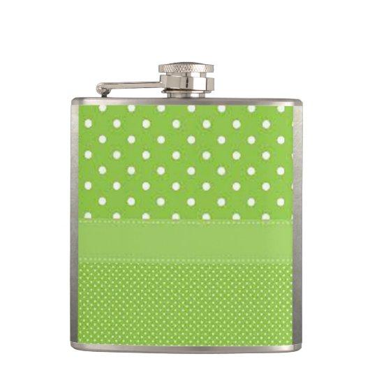 Grönt- & vitpolka dots fickplunta