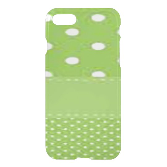Grönt- & vitpolka dots iPhone 7 skal