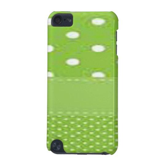 Grönt- & vitpolka dots iPod touch 5G fodral