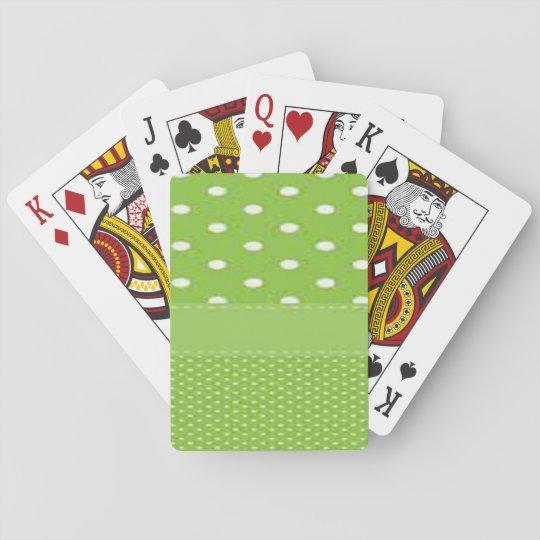 Grönt- & vitpolka dots spelkort