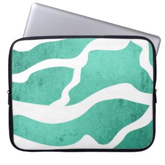 Grönt zebra mönstrad för Mint, blixtShape Laptopfodral