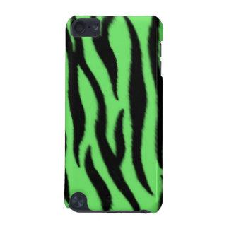 Grönt zebra mönstrad iPod touch 5G fodral