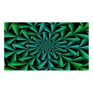 Gröntar och deppigheter rundar optisk illusion set av standard visitkort