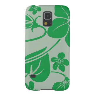 Gröntblommor Galaxy S5 Fodral