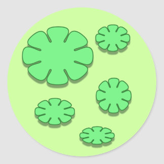 gröntblommor runt klistermärke