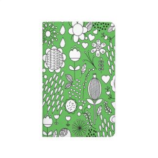 Gröntblommor stoppa i fickan journalen anteckningsbok