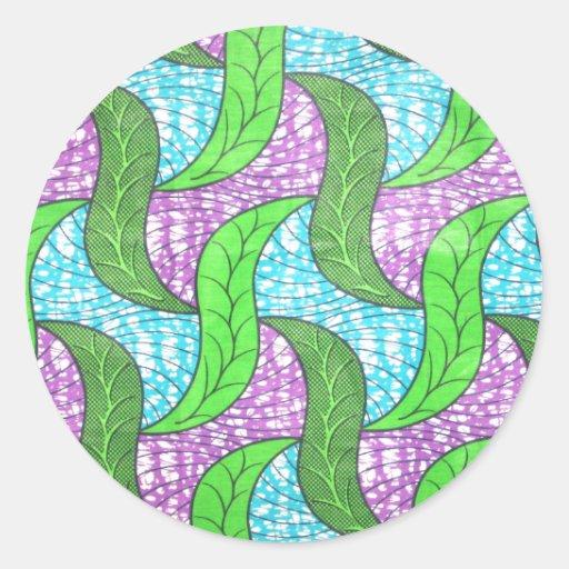 Gröntlöv Runda Klistermärken