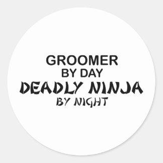 Groomer dödliga Ninja vid natt Runt Klistermärke