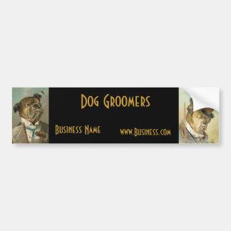 Groomers för hund för bildekalaffärsvintage bildekal
