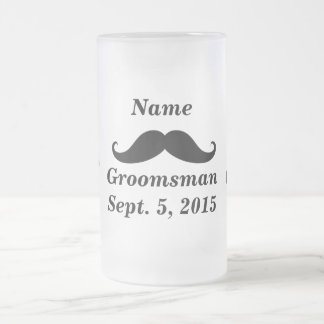 Groomsmanmustasch och frostad Glass mugg för top