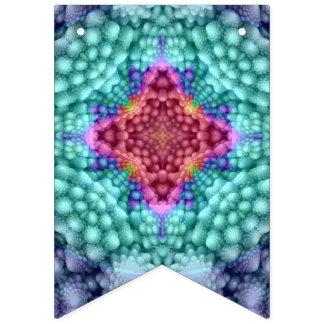Groovy blåttvintageKaleidoscope Vimplar
