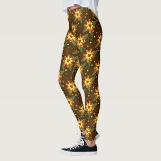 Groovy blommadamasker leggings