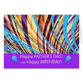 Groovy fars dagfödelsedagrandar hälsningskort