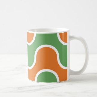 Groovy grönt för 70-talLavaorange Kaffemugg