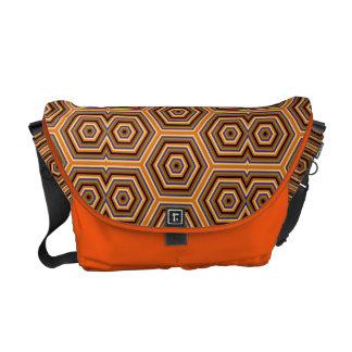 Groovy mönster för mosaik för kurir väskor