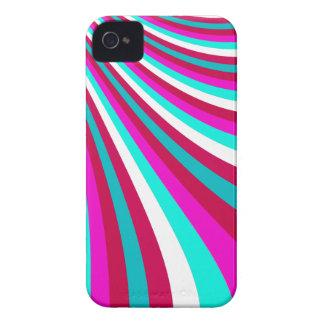 Groovy mönster för randar för glidbana för shock iPhone 4 Case-Mate skydd