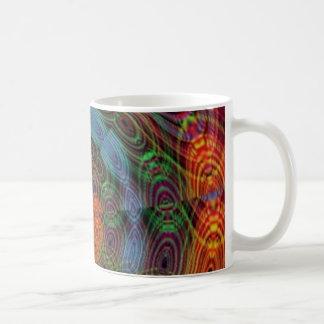 Groovy psychedelic värderar muggen kaffemugg