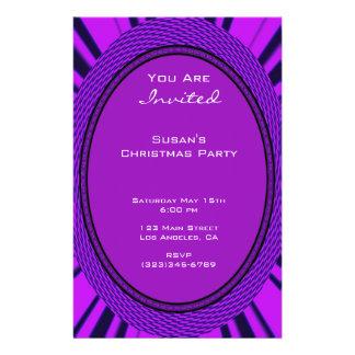 Groovy purpurfärgad jul flygblad