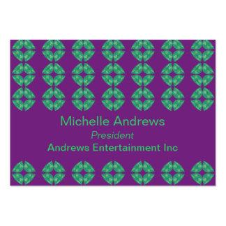 groovy retro för purpurfärgad kricka set av breda visitkort