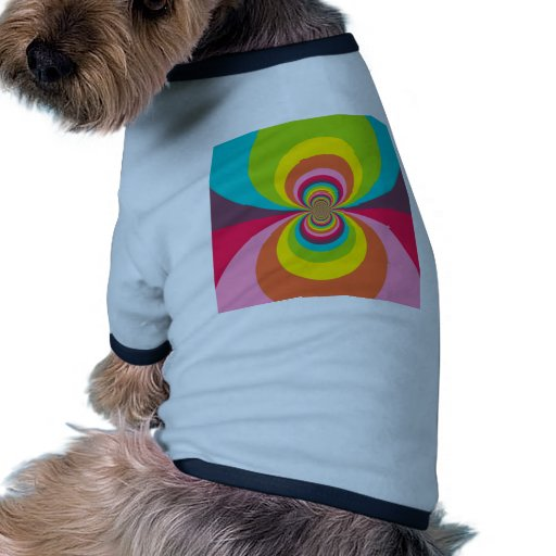 Groovy Retro Kaleidoscope för Hippievintageregnbåg Djur Tee Shirt