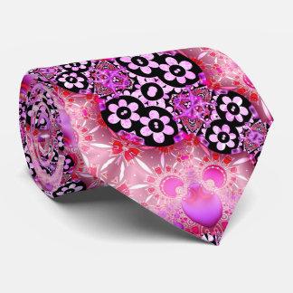 Groovy rosa och svart Fractal Slips