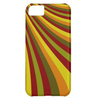 Groovy rött gult mönster för orangegröntrandar iPhone 5C fodral