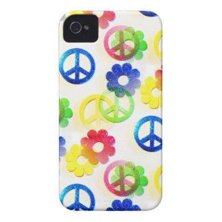 Groovy Sparkles för Hippiefredssymbolerflower Case-Mate iPhone 4 Fodraler