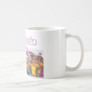 Groovy Wisconsin kor Kaffemugg