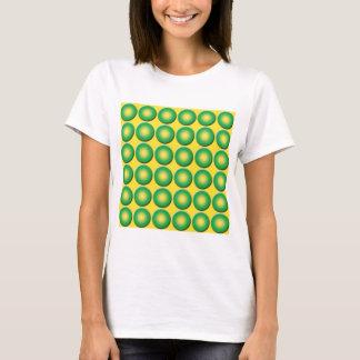 Gropigt gultgröntmönster tshirts
