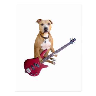 Groptjur med gitarren vykort