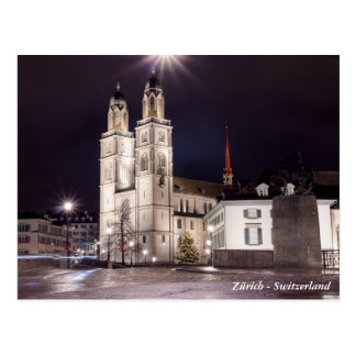 Grossmunster kyrka i Zurich Vykort