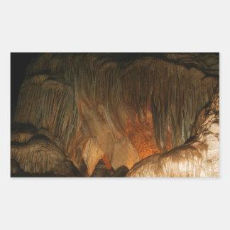 Grottan skvalpar rektangulärt klistermärke
