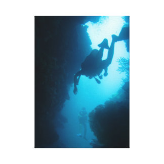 Grottor av den babylon dyken canvastryck