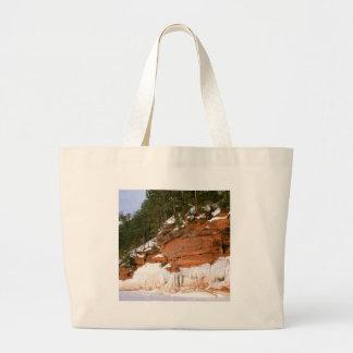 Grottor Wisconsin för hav för vinterSquawfjärd Tote Bags