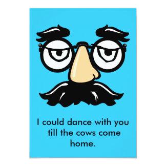 Groucho exponeringsglas, kunde jag dansa med dig 12,7 x 17,8 cm inbjudningskort