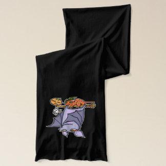 Grouchy fladdermössvitHalloween Scarf Halsduk
