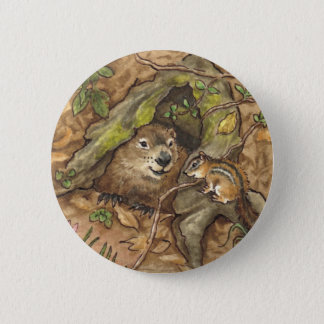 Groundhog knäppas standard knapp rund 5.7 cm