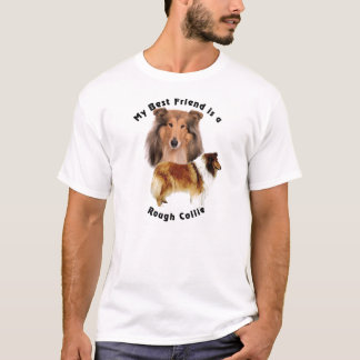Grov Collie för bästa vän Tee Shirt