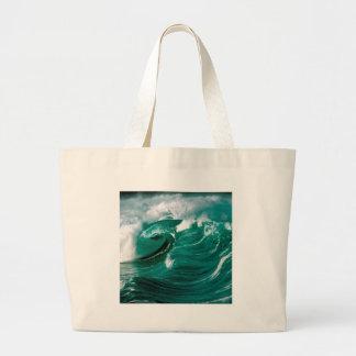 Grova hav för vatten framåt tote bags
